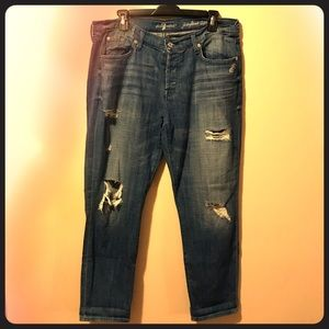 7 for all mankind destroyed Jeans skinny boyfriend